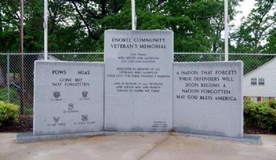 Enoree Community Veterans Memorial image. Click for full size.