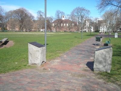 Markers on the Cambridge Common image. Click for full size.