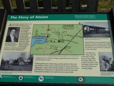 The Story of Atsion Marker image. Click for full size.