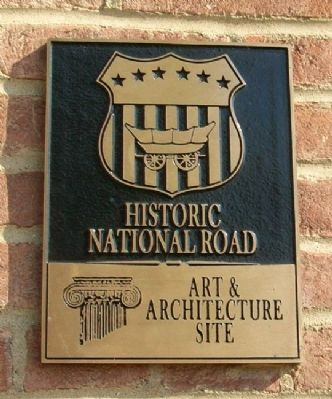 Historic National Road Art & Architecture Marker image. Click for full size.