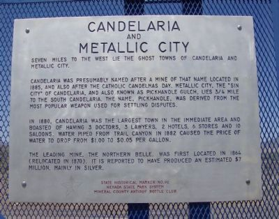 Candelaria and Metallic City Marker image. Click for full size.