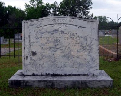 W.T. Jackson Tombstone image. Click for full size.