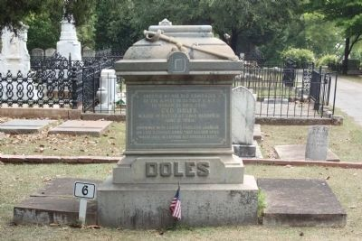 Memory Hill Cemetery, General George Doles image. Click for full size.