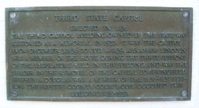 Third State Capitol Marker image. Click for full size.