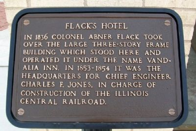 Flack's Hotel Marker image. Click for full size.