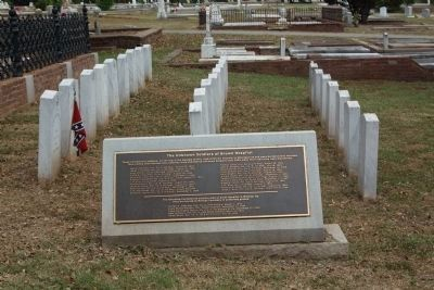Memory Hill Cemetery,The Unknown Soldiers of Brown Hospital image. Click for full size.