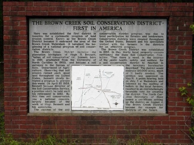 Brown Creek Soil Conservation District Marker image. Click for full size.