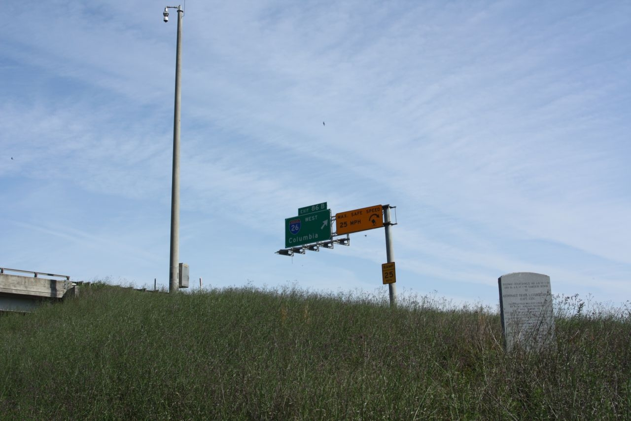 Highway Interchanges Marker seen with I-95 in upper background