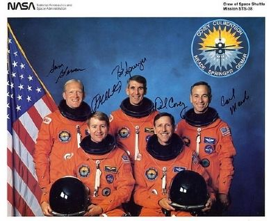 STS-38 Crew, Culbertson at front left image. Click for full size.