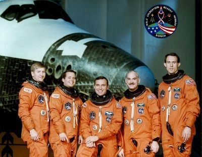 STS 51 Crew, Frank L. Culbertson at far left image. Click for full size.