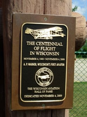 The Centennial of Flight in Wisconsin image. Click for full size.