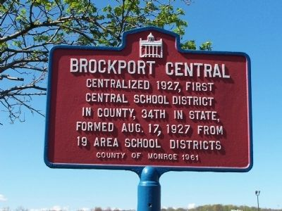 Brockport Central Marker image. Click for full size.
