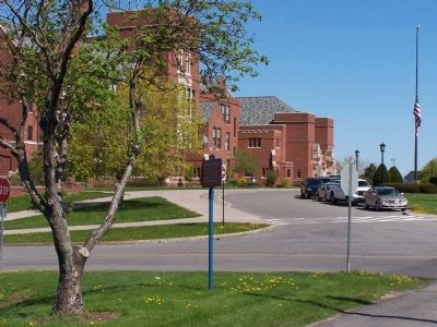 Distant view of Brockport Central Marker image. Click for full size.