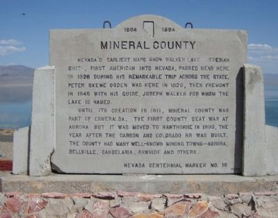 Mineral County Marker image. Click for full size.