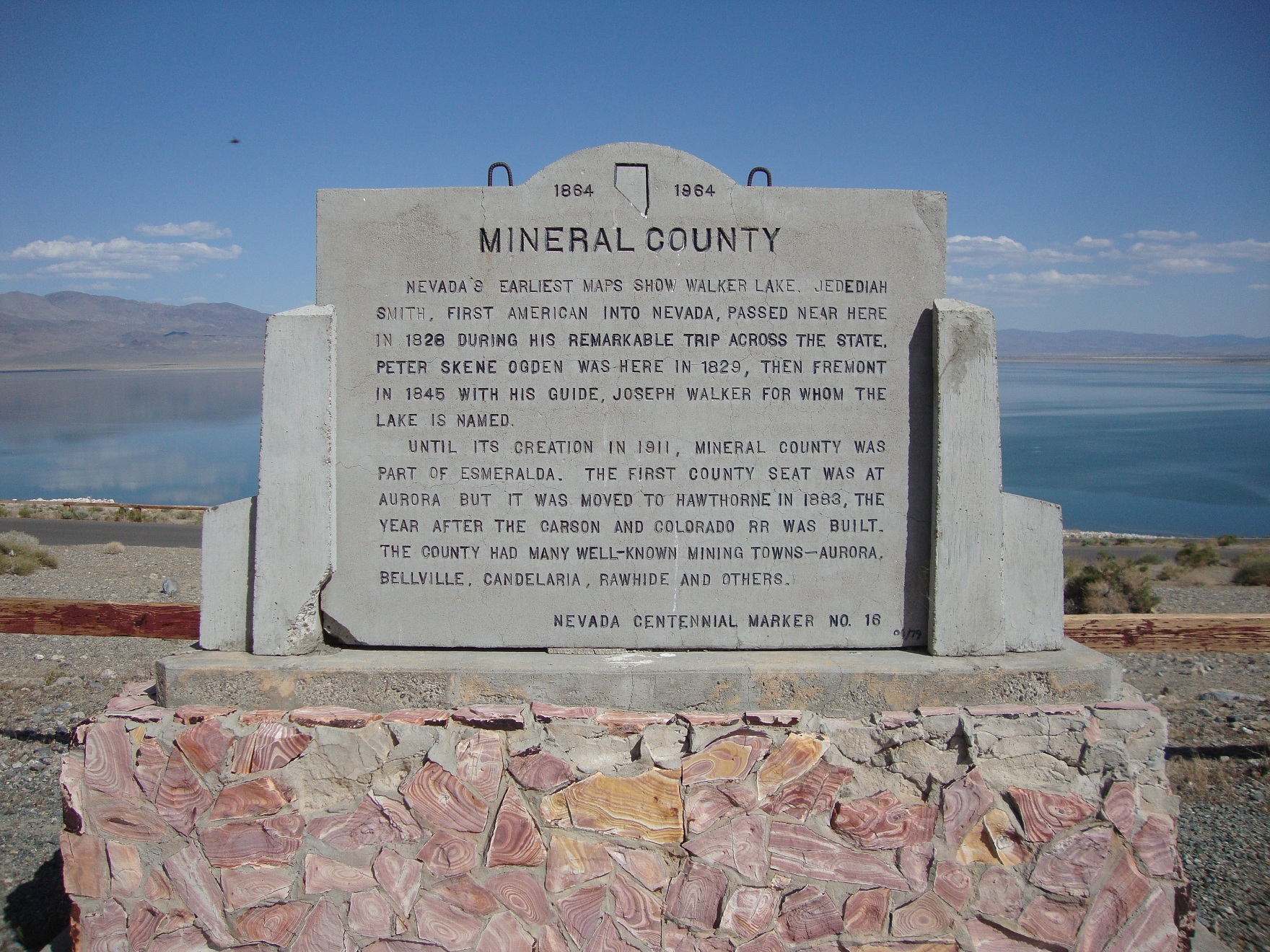 Mineral County Marker