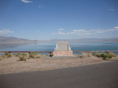 Mineral County Marker with Walker Lake behind it image. Click for full size.