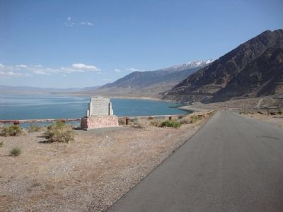 Mineral County Marker, Walker Lake, and part of the Washoe Range image. Click for full size.