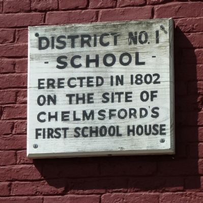 District No. 1 School Marker image. Click for full size.