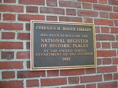 Cyrenius H. Booth Library Marker image. Click for full size.