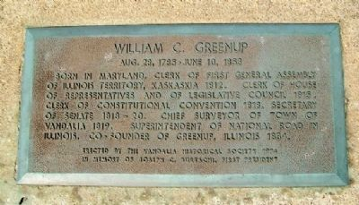 William C. Greenup Marker image. Click for full size.