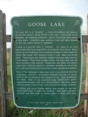 Goose Lake Marker image. Click for full size.