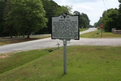 Spring Hill Marker, looking south at Mt. Olivet Church Road intersection image. Click for full size.