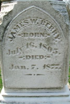 James W. Berry Grave Marker image. Click for full size.