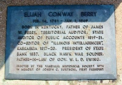 Elijah Conway Berry Marker image. Click for full size.