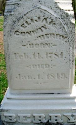 Elijah C. Berry Grave Marker image. Click for full size.