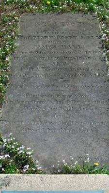 Mary Hall and son James Grave Marker image. Click for full size.