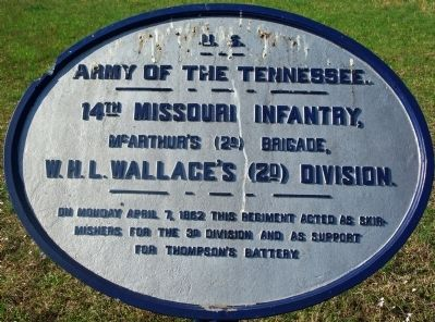 14th Missouri Infantry Marker image. Click for full size.