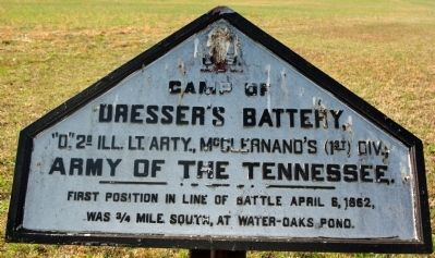 Camp of Dresser's Battery Marker image. Click for full size.