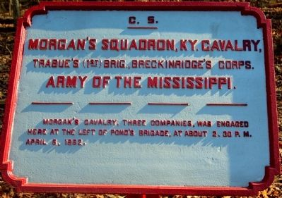 Morgan's Cavalry Marker image. Click for full size.