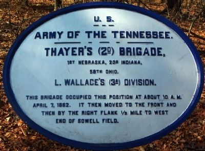 Thayer's Brigade Marker image. Click for full size.