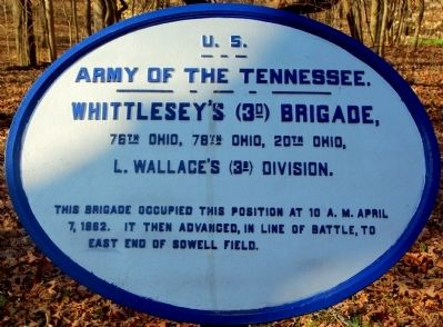 Whittlesey's Brigade Marker image. Click for full size.