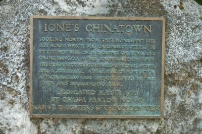 Ione's Chinatown Marker image. Click for full size.
