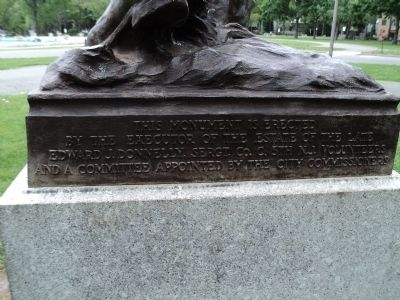 Marker on Rear of Monument image. Click for full size.