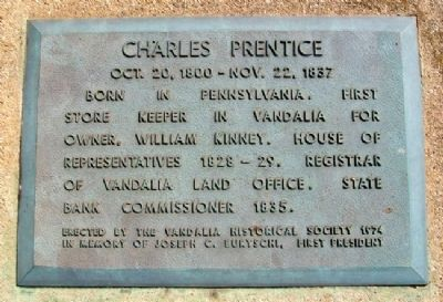 Charles Prentice Marker image. Click for full size.