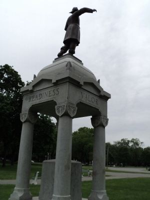 Rear of the Farrier Memorial image. Click for full size.