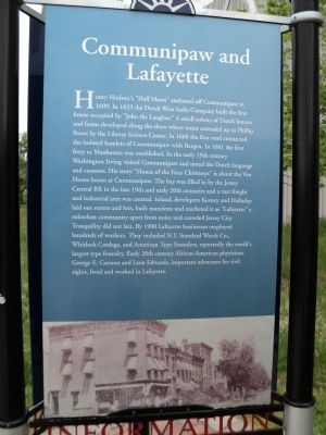 Communipaw and Lafayette Marker image. Click for full size.