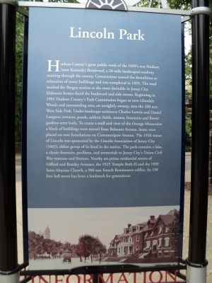Lincoln Park Marker image. Click for full size.