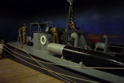 "PT-309, WWII Motor Torpedo Boat on display at the ""Pacific Combat Zone"" image. Click for full size."