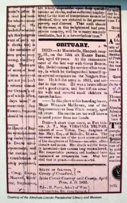 Obituary on Lincoln Attends Funerals Marker image. Click for full size.
