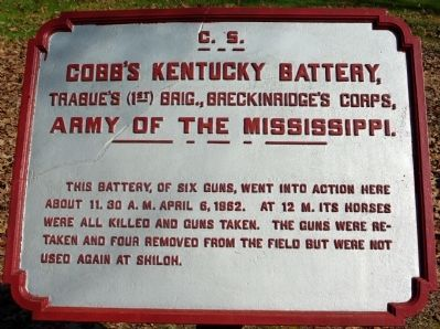 Cobb's Kentucky Battery Marker image. Click for full size.