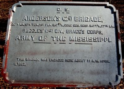 Anderson's Brigade Marker image. Click for full size.