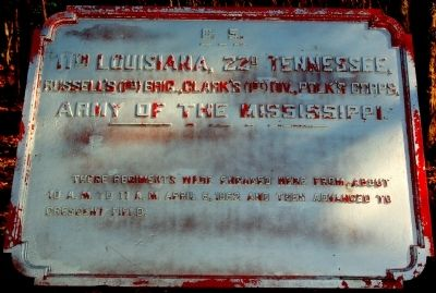 11th Louisiana, 22nd Tennessee Marker image. Click for full size.