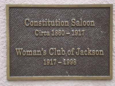 Constitution Saloon Marker image. Click for full size.