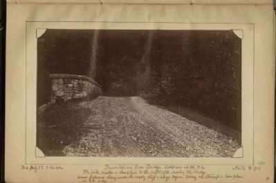 Tumbling Run Bridge looking up the Pike (1884) image. Click for full size.