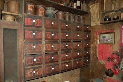 Chinese Herb Drawers image. Click for full size.