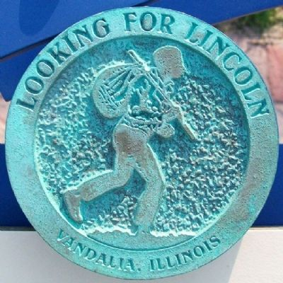 First Protest Against Slavery Rubbing Medallion image. Click for full size.